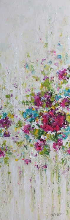 Acrylic colorful abstract painting done with palette knife on canvas. TITLE: Spring is around the corner SIZE: 12 x 36 MEDIUM: Acrylic. Protected with a semi-gloss varnish. CANVAS: Stretched canvas with 0.75 thickness. The edges are painted, so a frame is optional. SIGNATURE: Signed on the front. PAYMENT: Pay Pal or any major credit card. SHIPPING: Your order can be shipped worldwide, 1-3 business days after receiving payment. For international shipping, please ask me for a quote. If you…