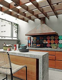 1000 images about churrasqueiras on pinterest pergola - Pergolas de cemento ...