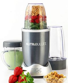 #Nutribullet - Become one with the Bullet.  It is quick and easy to create one of a kind smoothies/juices/blends!  Easy to clean too (Amen!)  I haven't read the recipe book because I enjoy creating my own (and I may be lazy?)  My favorite so far; strawberries, almonds, banana, kiwi, raspberries, coconut, flaxseed, kale, and very vanilla soymilk