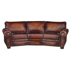 Leather Ranch Curved Sofa 553003 Western Sofas And