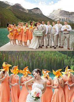 orange sherbet Wedding Color Combinations | ... Searching for sherbet/light orange, pinkish orange Bridesmaid dresses