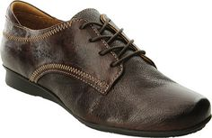 Women's Taos Footwear Ideal Leather Oxford - Chocolate Full Grain Leather Casual Shoes