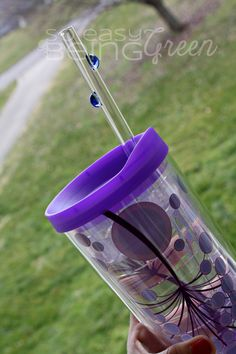 Use a reusable glass straw - no more plastic!