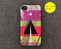 iphone 4 case, iphone 4s case - wood pattern, colours, geometry. $14.99, via Etsy.