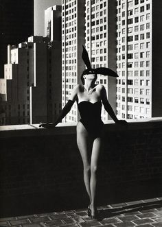 Ears and cigarette. By Helmut Newton.