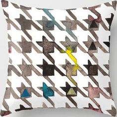 Houndstooth Throw Pillow by ...