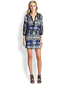 Parker - Mallory Silk Ikat Shirtdress