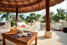 Rooftop terrace inspiration from a Playa del Carmen villa