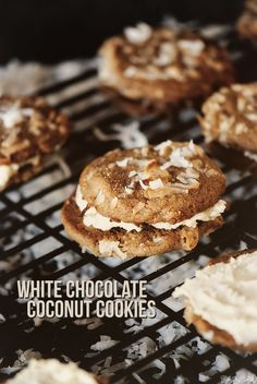White Chocolate Coconut Cookies...going through a serious coconut phase right now. These look amazing.