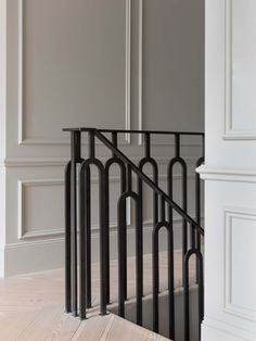 Another restored home in London by Undercover Architecture - house and flat decorations Iron Stair Railing, Stair Handrail, Staircase Railings, Staircase Design, Stairways, Banisters, Handrail Ideas, Metal Spindles, Modern Railing
