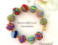 Bonbons beaded beads beading tutorial beadweaving pattern seed bead beadwork jewelry beadweaving tutorials beading pattern instructions