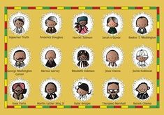 Free Black History Month Important People Posters Coloring and Activities!