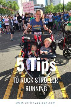 5 Tips to Rock Stroller Running Running Challenge, Running Plan, Kids Running, Running Workouts, Running Tips, Running Training, Mommy Workout, Pregnancy Workout, Jogging For Beginners