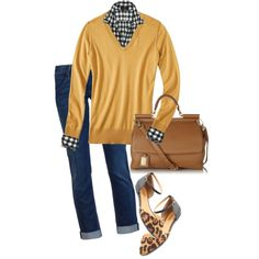 A fashion look from September 2013 featuring shirts & blouses, cropped jeans and flat shoes. Browse and shop related looks.