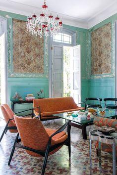 Elle Decor, Havana House, Cuban Decor, Bohemian Interior Design, Loft, Contemporary Decor, Beautiful Bedrooms, Modern House Design, Room Interior