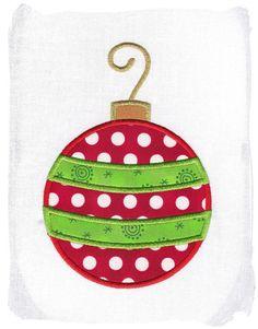 Christmas Ornament Machine Embroidery Applique Design via Etsy