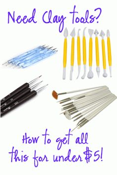 Save money on Craft Tools for Clay - under $5 tip