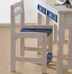 Детский деревянный стул с синим сиденьем и подставкой под ноги купить в интернет-каталоге мебели https://lafred.ru/catalog/catalog/detail/41865711652/