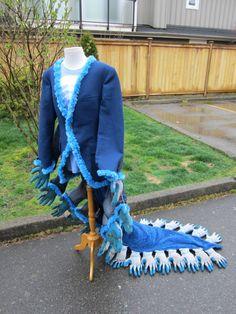 Caterpillar Upcyled frac  Repurposed chaqueta y guantes de