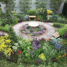Jekka McVicar designed this Modern Apothecary garden for the Chelsea Flower Show 2016