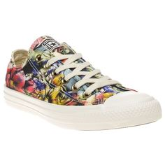 Womens egret multi Converse All Star Ox Trainers at Soletrader d7a0fb747