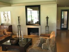 Living Room Fireplace by Flying Turtle Cast Concrete