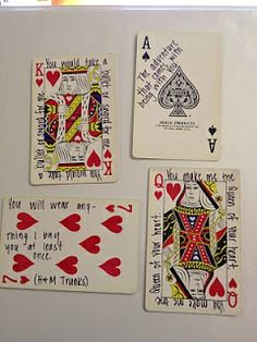 52 Things I Love About You cards and still usable! what acute anniversary or valentines day or just because gift - PRECIOUS. We love playing cards!