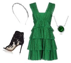 """""""Green queen"""" by lily-lovejoy on Polyvore featuring мода, N°21, Bling Jewelry, Gianvito Rossi и INC International Concepts"""
