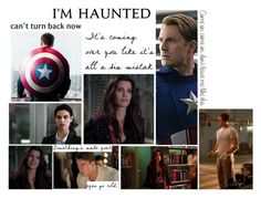 """Haunted by Us"" by capfan2014 ❤ liked on Polyvore featuring art, marvel and CaptainAmerica"