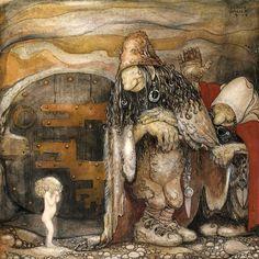 John Bauer. En sadan elandig liten bleknos (1913).
