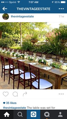 Long Head Table for Bridal Party.