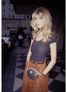 Claudia Schiffer in the nineties