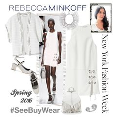 """""""Rebecca Minkoff Spring 2016"""" by carola-corana ❤ liked on Polyvore featuring Rebecca Minkoff, women's clothing, women, female, woman, misses, juniors, contestentry, seebuywear and rmspring"""