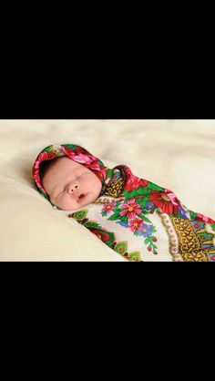 Little beauty, baby babushka:) Russian style)