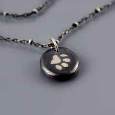 Small Paw Print Nugget Necklace by Lisa Hopkins Design - I want this - reminds me of my kids