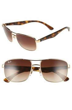 Ray-Ban 57mm Aviator Sunglasses available at #Nordstrom