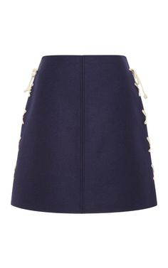 A-Line Side Laced Mini Skirt by Suno for Preorder on Moda Operandi