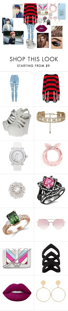 """Boo Seungkwan Seventeen"" by btsloveforlife on Polyvore featuring Topshop, Killstar, Kurt Geiger, New Look, Chopard, Cristabelle, LMNT, Rebecca Minkoff, Lime Crime and WithChic"