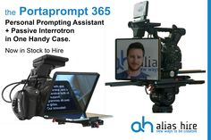 The Portaprompt 365 Personal Prompting Assistant and Passive Interrotron available to hire now. www.aliashire.co.uk Hiring Now, Kit