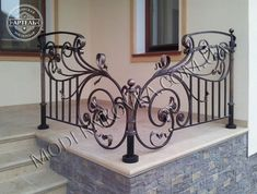 Fine Metal Working Album - All About Balcony Railing Design, Fence Design, Door Design, House Design, Gates And Railings, Iron Stair Railing, Iron Gates, Iron Doors, Iron Gate Design