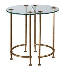 Check out the Uttermost 24337 Set of 2 Aralu Side Tables priced at $327.80 at Homeclick.com.