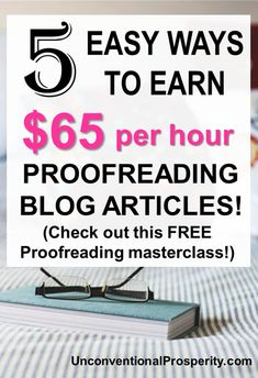 Making money proofreading is pretty easy if you know what you are doing! Proofreading is one of the most lucrative side hustles and it is in HIGH DEMAND! Check out this free 76 minute webinar from expert proofreader, Caitlin Pyle! - Earn Money at home Earn More Money, Ways To Earn Money, Earn Money Online, Make Money Blogging, Online Jobs, Make Money From Home, Way To Make Money, How To Make, Online Careers
