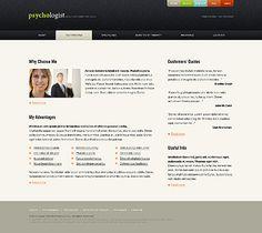 Family Psychologist Website Templates by Modlin