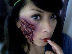 DIY Scar Makeup tutorial for halloween!