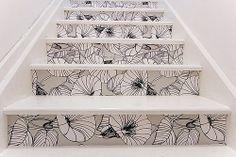 papel mural para decorar tus escaleras