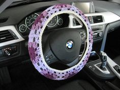 Crochet Granny Square Steering Wheel Cozy