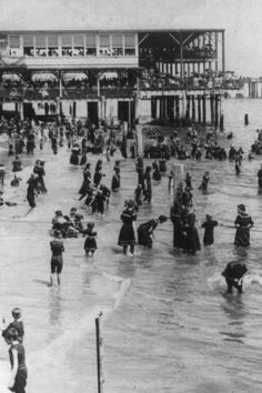 Asbury Park NJ Seaside Swimming photo Here is a neat collectible featuring a seaside scene from Asbury Park, New Jersey in the This is an excellent reproduction of an old photo on qua Old Pictures, Old Photos, Vintage Photos, The Washington Times, Washington Dc, Sweden Cities, Urban Heat Island, Sweden Travel, Asbury Park