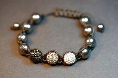 pulsera cristal swarovski negro gris blanco