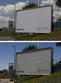 The Mercedes-Benz billboard that shows you what you're breathing.