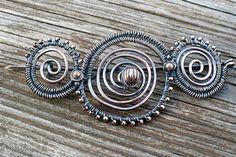 Copper Swirl Fibula by MelismaticArtJewelry on Etsy, $38.00
